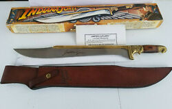 Indiana Jones Khyber Bowie Knife Flawles With Sheath And Box