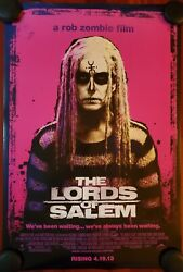 Rob Zombie Lords Of Salem Original Movie Poster 2012 Double Sided Rolled 27x40