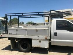 06 Ford F350 Super Duty Used 10and039 Ft Royal Utility Flat Bed W Ladder Rack And Boxes