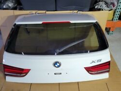 2014-2018 Bmw F15 X5 Rear Trunk Lid Door Lift Gate Liftgate Oem Complete White