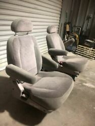 01 Nissan Quest Left And Right Rear Middle Bucket Cloth Seats Bc