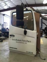08 Hino 268 Complete Used White Door Assembly W Mirror And Glass And Regulator