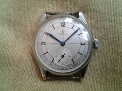 Omega A Rare And Large Stainless Steel Wristwatch With Sector Dial Ck859