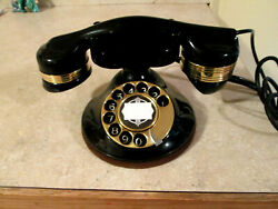 Telephone Automatic Elec Monophone Desk Working Phone 1930's Restored Excellent