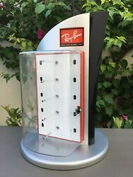 Vintage Sunglasses Store Display Case Countertop Stand Spinner No Keys