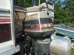 1990 Johnson 100 Hp Commerical Outboard Mid Section And Lower Unit 600.00