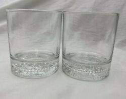6 Crown Royal Clear Rocks Glasses With Embossed Bottom Logo