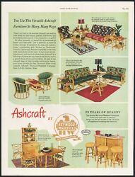 Vintage Magazine Ad Ashcraft By Heywood Wakefield From 1951 Picturing Furniture