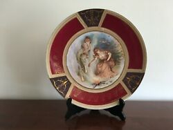 Kuznetsov Russia Russian Antique Hand Painted Porcelain Plate With Maidens
