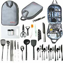 Camping Cooking Utensils Set Camp Kitchen Equipment Portable Picnic Cookware