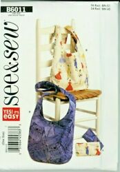 Hobo and Cosmetic Bags See amp; Sew Pattern B6011 Easy Uncut $14.99