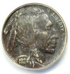 1924-s Buffalo Nickel 5c Coin - Certified Anacs Au50 Details - Rare Date In Au