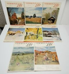 Vermont Life Magazines Lot Of 8 Vintage 1950's Travel New England Fall Pictures