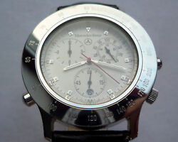 Mercedes Benz Classic Car Acessory Fortis Swiss Made Alarm Chronograph Watch