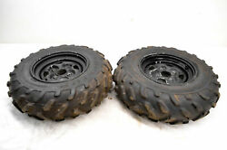 07 Yamaha Grizzly 660 4x4 Front Wheels Rims And Tires 25x8-12 Yfm600f