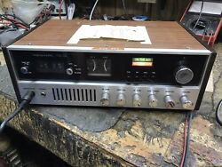 Vintage Realistic Trc-55 23 Channel Base Station Cb Radio W/ Mic And Power Cord