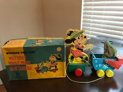Disney Vintage Toy - Wooden Pull Toy By Jaymar Speciality Co.