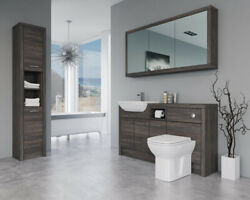Bathroom Fitted Furniture 1500mm Mali Wenge D2 With Wall And Tall Unit - Bathcabz