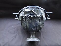 Ice Bucket, Silver Plated, Chased Grape And Vine Pattern, French 1860 Bronze