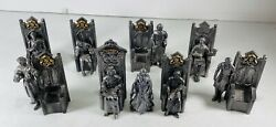 Lot Of 9 Michael Ricker Pewter Sculpture Figurines Knights Of The Round Table