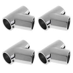 4pieces Stainless Steel Yacht Boat Hand Rail 60 Degree T Fitting 7/8 Tube
