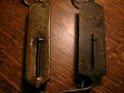 Antique Hanging Small Scales Set Of Two Lfandc 3 25 4 Inch Psandw Co 25 4 3/4 In
