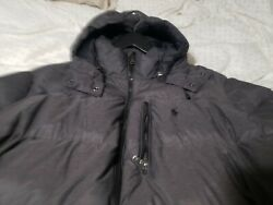 F5007 Menand039s Polo Full-zip Puffer Down Jacket Size 2xl