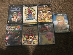 Gamecube Mario Lot Of 7- All Complete And Authentic - Rare Lot - Ships Free