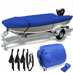 14and039-14.8and039 Trailerable Open Boat Cover 210d Trailers Fish Bass V-hull Waterproof