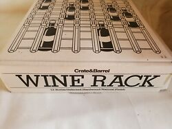 New Crate And Barrel Wine Rack Wood 12-bottle Modular Retro Vintage Style