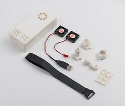 V2 White Case Dual Fans For Stratux Ads-b Kit Fits Gpyes And Ahrs Module