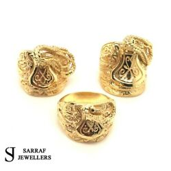 9ct Yellow Gold Menand039s Saddle Ring 375 9k Solid 3 Type All Sizes