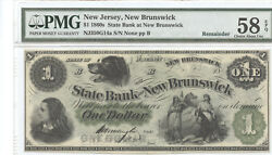 S 456 Pmg 1868 Cosigned 1 The State Bank At New-brunswick, New Jersey Gem Unc