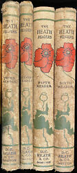 Set Of 4, The Heath Readers 2, 3, 5, And 6 Vintage 1903 Collectible