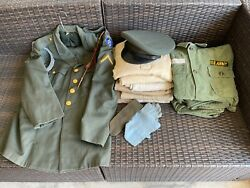 1960 Era U.s. Army 8th Airborne Military Dress Formal And Casual Uniforms Vietnam
