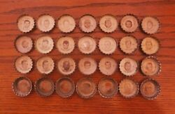 1965 Coke Cleveland Browns Bottle Caps Lot Of 28 Paul Warfield Mike Lucci Scarce