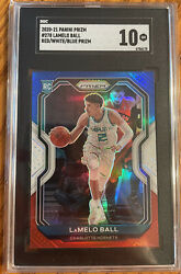 2020 Panini Prizm Red White Blue Lamelo Ball Rookie Rc 278 Sgc 10 Psa Crossover