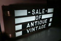 Extremely Rare Art Deco Lighted Add Sign W/originals Art Deco Letters 1930-60