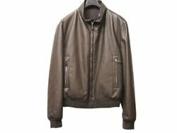 Hermes Reversible Leather Jacket Riders Brown Mens 54 Sizes 0169 Secondha _51306