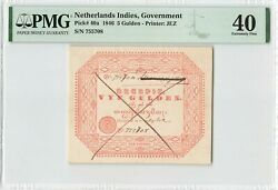 Netherlands Indies 5 Gulden 1846 Indonesia Pick 40a Pmg Extremely Fine 40