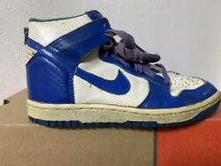 Nike Dunk Og Us9 27cm Men Blue X White Country Of Manufacture Korea Leather