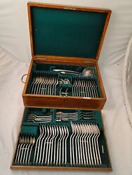 Silver Plate Albany Canteen Boxed Antique 1850 England Beautiful Set Marked