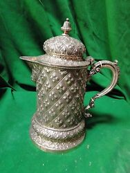 Silver Plated Jug Beautifully Chased And Designed 1860 English Top Quality