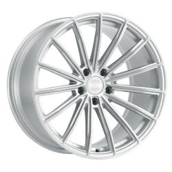 Xo Luxury London 20x10.5 5x112 Offset 42 Silver W/brushed Face Quantity Of 4