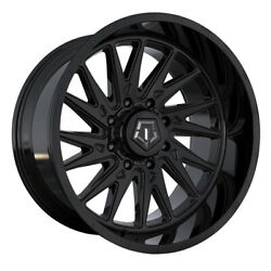 Tis 547b 24x12 8x165.1 Et-44 Gloss Black W/milled And Painted Lip Logo Qty Of 4