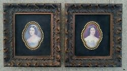 Vintage Turner Wall Accessory Pictures Set Of 2 Victorian Ladies Prints
