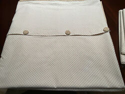 Custom Made/designer Fabric Reversible And039queenand039 Duvet Cover - Cream And Tan - A+++