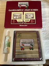 Vintage Nintendo 1983 Game And Watch Mario Bros. In Box With Papers Beautiful Nes