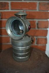 Antique Mead Cycle Search Light Bike Bicycle Lamp Gas Carbide Lantern