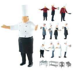 Model Building Scene 164 Scale Painted Figures Chef Figurines Person